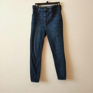 Madewell Dark Wash Curvy High-Rise Skinny Jeans